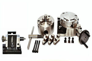 Rotary Table 4 With 80mm Self Centering Chuck With Backplate Tailstock