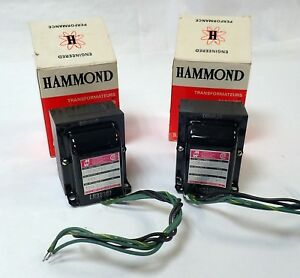 Lot Of 2 Hammond 167g120 X Low Voltage Filament 115v 60hz 1 Phase Chassis Mount