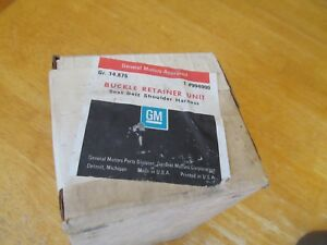 1968 1970 Nos Seat Belt Kit Retainers Ss 396 Gm And Others