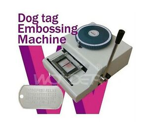 Brand New 52 Codes Characters Manual Standard Dog Tag Embosser Embossing Machine