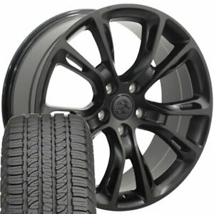 20 Wheel Tire Set Fit Jeep Grand Cherokee Srt8 Style Black Rims Gy Tires