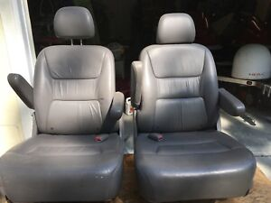 2004 Honda Odyssey Van Second Third Row Bucket Seats Leather Gray