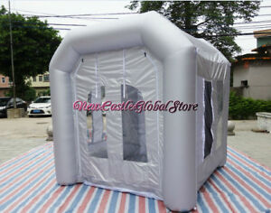Custom Made Portable 8 Feet By 8 Feet Inflatable Spray Paint Booth Enclosure