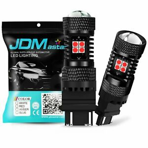 Jdm Astar 2x Red 3157 3156 14 smd Chip Projector Led Light Bulbs Tail Brake Stop