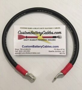 33 4 0 Gauge Sgx Custom Battery Cable W 2 5 16 Heavy Duty Lug Ends