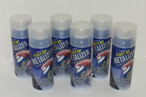 6 Cans Of Plasti Dip Metalizer Silver 11oz