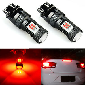 2pcs 3157 14 smd Red Led High Power Tail Brake Stop Light Bulbs 3057 3457 4157