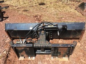 Blue Diamond 6 Way Dozer Blade 84 Skid Steer Attachement Used