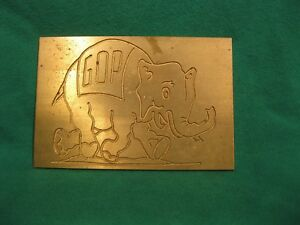 New Hermes grand Old Party Gop Master Copy Engraving Font 4x 2 3 4