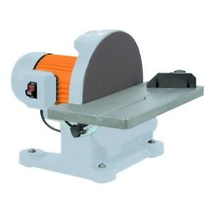 1-14 HP Benchtop Disc Sander Shaping and Smoothing Edges Wood and Metal12 in