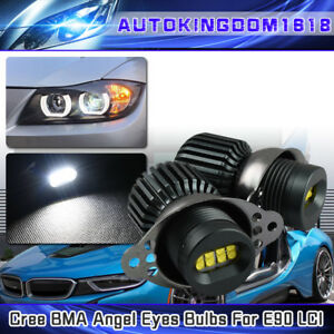 160w E90 Lci White Angel Eyes Cree Led Halo Rings Bulbs 160w Bmw Light Kit New