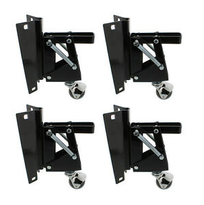 closeout Dct Heavy duty Retractable Workbench Casters With Bracket 4 pack