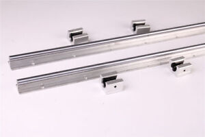 39 37in 1000mm Sbr20 Supported Linear Rail Shaft Rod With 4 Pcs Sbr20uu Us