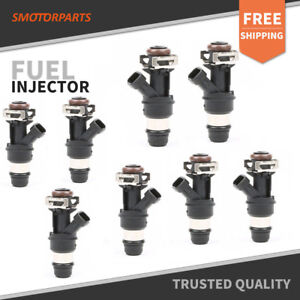Set 8 60lb Fuel Injectors For Gm 4 8l 5 3l 6 0l Engine 01 07 Non Flex Fuel