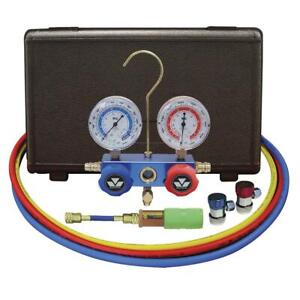 Mastercool mas89661uv R134a Aluminum Manifold Gauge Kit With Dye Injector