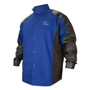 Black Stallion Bxrb9c ps Bsx Fr Cotton pigskin Welding Jacket Blue black Med