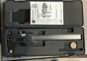 Brown Sharpe Shop cal Digital Caliper Range 0 6 0 150 Mm Swiss Made Tesa
