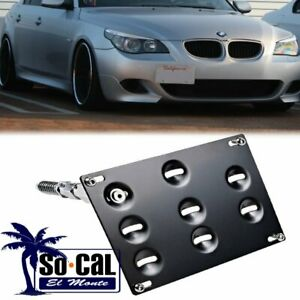 Front Bumper Tow Hook License Plate Bracket Holder For Bmw 5 6 7 Series Z4 M5 M6