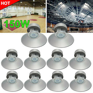 10x150w Led High Bay Light Cool White Warehouse Industrial Factory Gym Lamp 110v