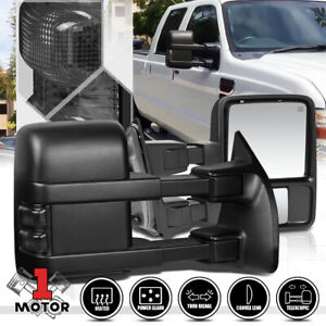 Pair Power Heated Led Signal Towing Side Mirror For 08 16 Ford F250 Super Duty
