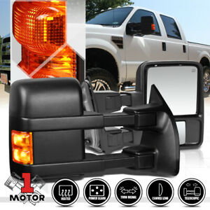 Pair Power Heated W Led Signal Towing Side Mirror For 08 16 F250 Super Duty Sd