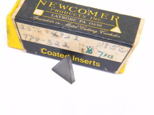 New Surplus 7pcs Newcomer Tpg 322 Grade Nt5c Carbide Inserts
