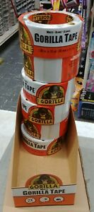 6 Rolls Gorilla Extra Thick 360 In L X 1 88 W Duct Tape White