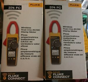 New Fluke 374 Fc Wireless True rms Ac dc Clamp Meter Free Shipping Cont Usa