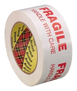 3m 68772 Scotch Fragile Handle With Care Box Tape 3772 48 Mm X 100 M 6 pack