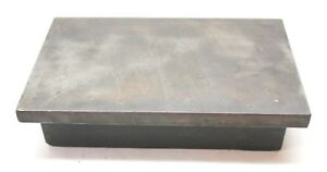 Cast Iron Machinist Inspection Surface Plate For Bench Table Top 8 X 12 X 2 75