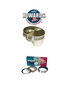 Howards Cams 840425613 Sbc 350 40 Over 6 Rod Forged 13 0cc Domed Pistons Rings