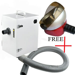 1200w Dental Dust Collector Vacuum Cleaner Machine Used W Sandblasters Polishing