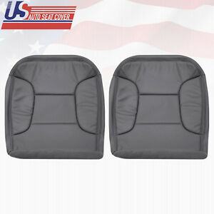1992 1996 Ford Bronco Base Driver Passenger Bottom Seat Cover Perforated Dk Gray