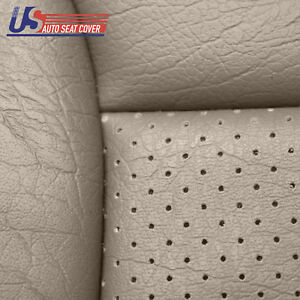 Driver Bottom Leatherette Seat Cover Perforated Mocha Fits 92 To 96 Ford Bronco