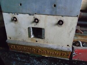 Clausing Colchester 17 Inch Metal Lathe Feed And Threading Gearbox