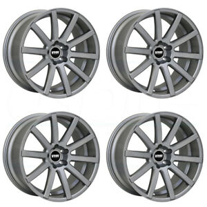 19x8 5 Vmr V702 5x112 35 Gunmetal Wheels Rims Set 4