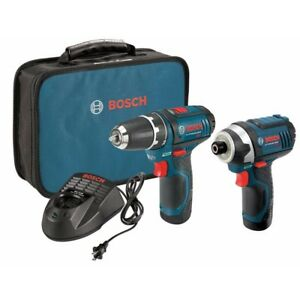 Bosch Clpk22 120 12 volt Max Lithium ion Drill And Impact Driver Combo Kit