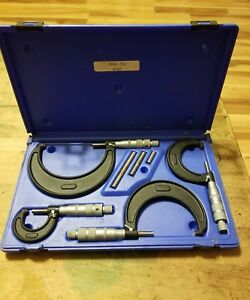 Central Tools 4 Piece Micrometer Set 0 4 Inch No 6151