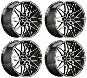 19x8 5 Vmr V801 5x112 45 Mercury Black Wheels Rims Set 4