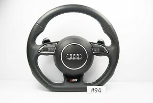 Audi S5 Line A5 S5 Steering Wheel With Airbag Flat Botton Shift Padlles 94
