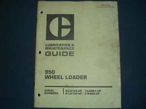 Cat Caterpillar 950 Wheel Loader Lubrication Maintenance Manual