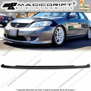 For 04 05 Honda Civic As Si Style Front Bumper Chin Spoiler Lip Splitter Pu Jdm