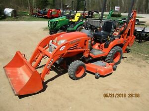 Kubota Bx24 Tractor 4x4 Loader Backhoe Belly Mower