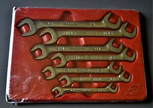 New Snap On Tools 7 Piece 4 way Angle Head Sae Open End Wrench Set 3 8 3 4