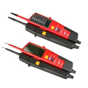 Uni t Lcd Display Auto Range Voltage Continuity Tester With Date Hold Rcd Test