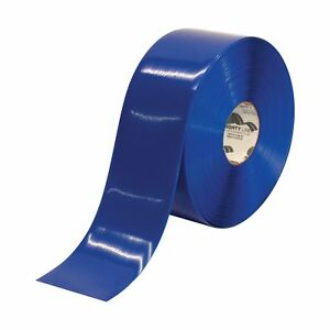 Boxes Fast Mighty Line Deluxe Safety Tape 60 Mil Pvc 4 X 100 Blue pack
