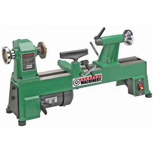 1 2 Hp Benchtop Wood Lathe 5 Speed Wood Working Cast Iron 10 In X 18 In