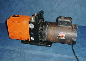Cit Alcatel 2015 Dual Stage Rotary Vane Mechanical 3 4hp 1725 Rpm Vacuum Pump