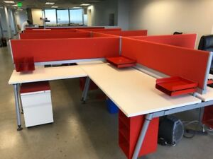 Late Model Herman Miller 6 x6 Office Cubicles Workstations