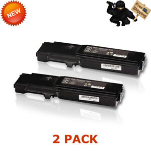 2x Black Toner For Xerox Phaser 6600 6600dn Workcentre 6605 6605dn 106r02228